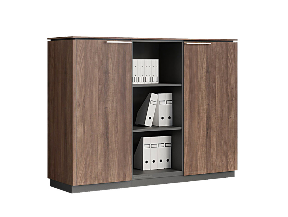 Status-Executive-Furniture-Range-Medium-Part-Open-Book-Storage-Cabinet-in-Lowland-Nut-Finish