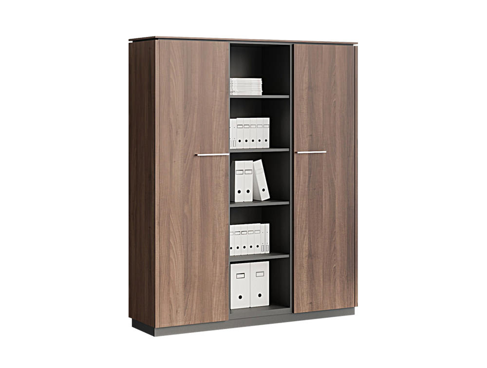 Status Executive Part-Open Tall Storage Cabinet