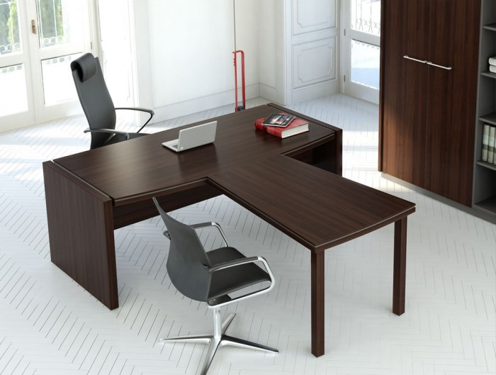 Status-Executive-Manager-Desk-with-Front-Extension-in-Chestnut-Finish-and-Ergonomic-Chairs-