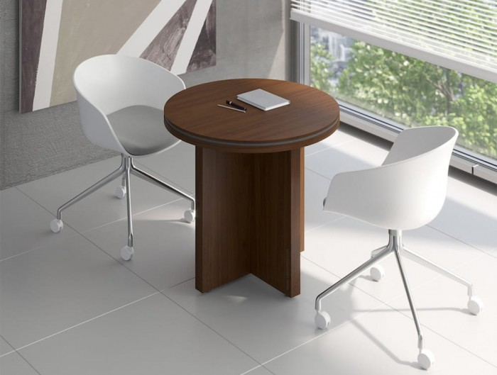 Status-Narrow-Round-Meeting-Table-with-Panel-Leg-Base-in-Chestnut-Finish