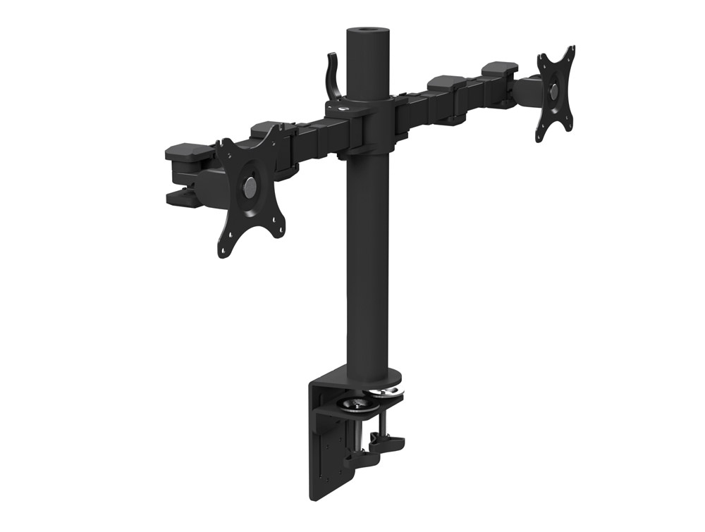 Stealth Double Monitor Arm Black