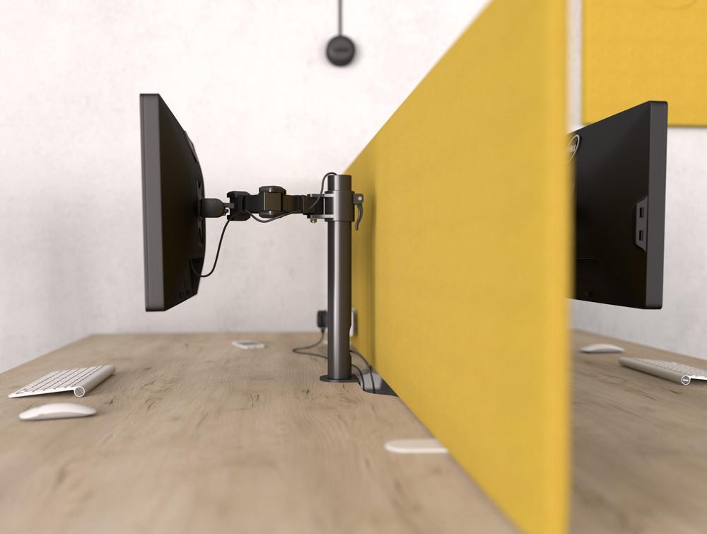 Stealth Single Monitor Desk Arm in Black