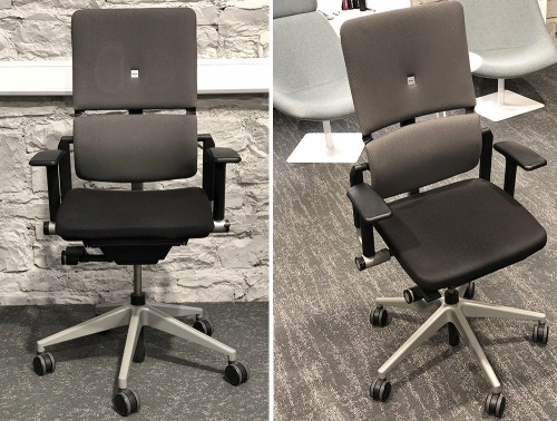 Steelcase-Please-Ergonomic-Chairs-with-Arms-in-Black-Front-View