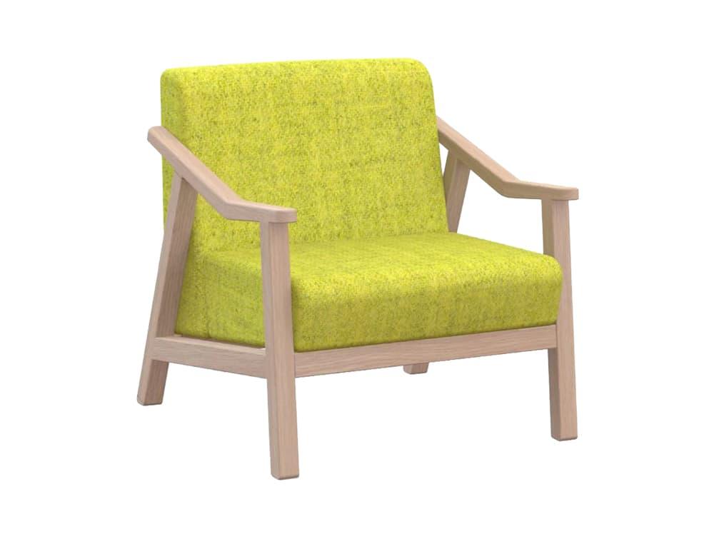 Strut Single Seater Sofa in Oak Legs