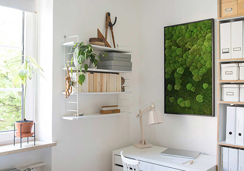 StyleGreen Forest & Pole Moss Merge Frame 1000x600mm Wall-Mounted in Home Office 500x350