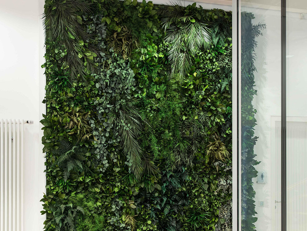 StyleGreen-Preserved-Jungle-Green-Wall-in-Hallway