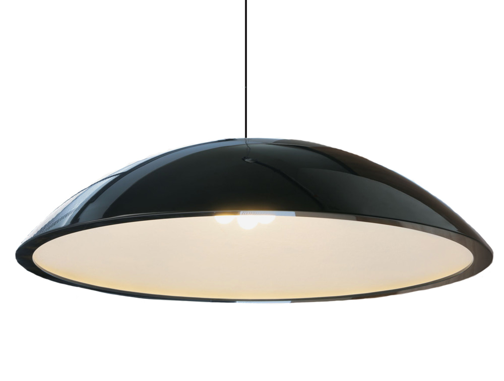 Sunbeam Ceiling Lights for Office Reception and Meeting Rooms Black High Gloss Lampshade