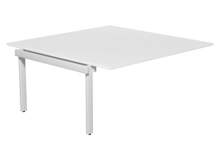 Switch 2 Person Modular Desking System Add-On 80-TT-WH-WHT-16 in White