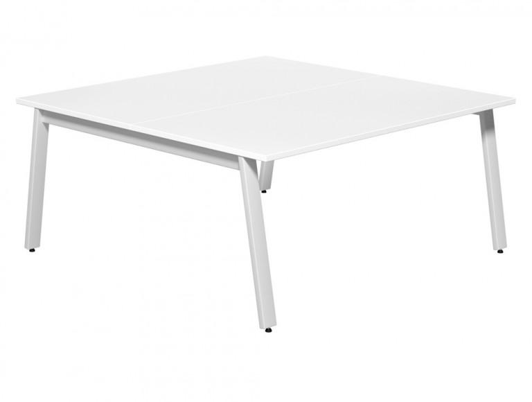 Switch 2 Person Bench Desk A-Leg 80-TT-WH-WHT-16 in White