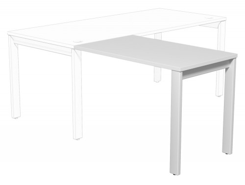 Switch Return Desk Open Leg WH-WHT-1-1060 in White