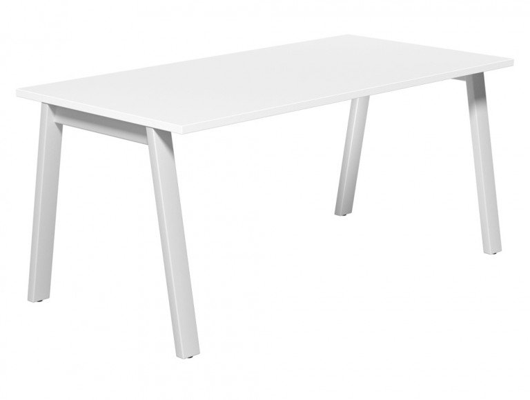 Switch Single Executive Desk A-Leg 80-TT-WH-WHT-16 in White
