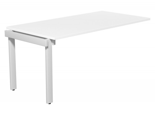 Switch Single Executive Desk Add-On Unit 80-TT-WH-WHT-16 in White