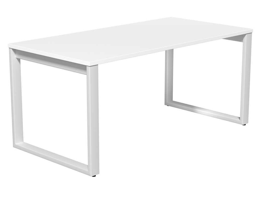 Switch Single Desk with Closed Leg in White