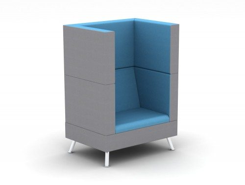 TD-1-PER-H Ad-Hoc Single Sofa High-Back Meeting Pod