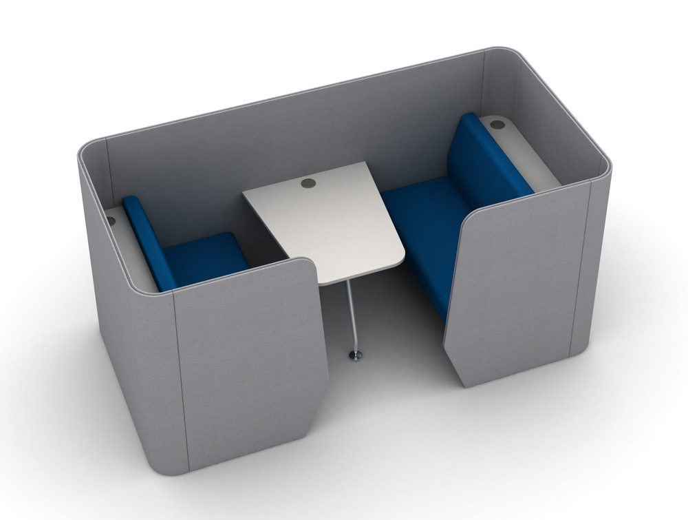 TXMPX-4-PER-MT Zone 4-Seater Meeting Pod with Media Table
