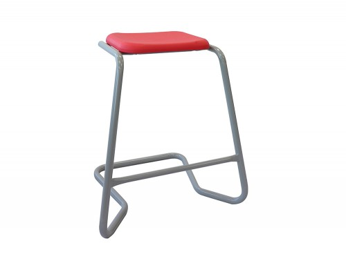 Ted Cantilever Stackable Classroom and Canteen Stool in Red