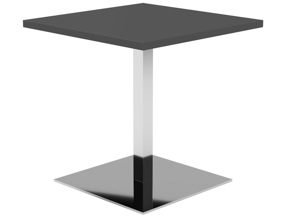 Kleiber Thunder Coffee Table with Square Chrome Base - Graphite
