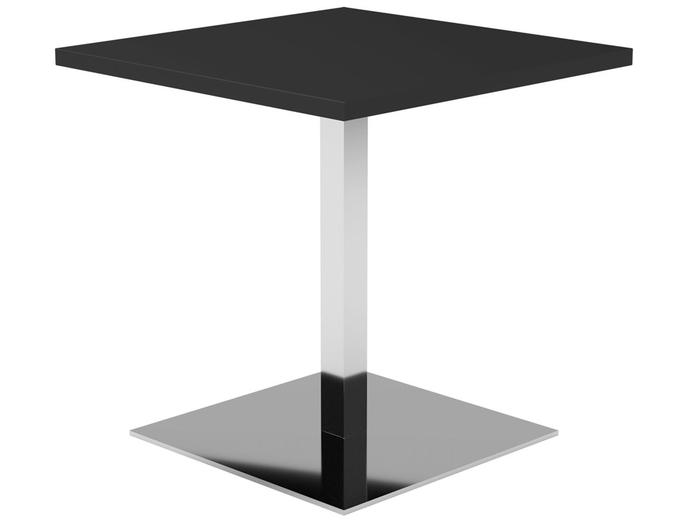 Kleiber Thunder Coffee Table with Square Chrome Base - Black