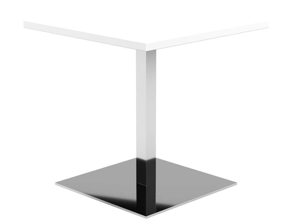 Kleiber Thunder Coffee Table with Square Chrome Base - White