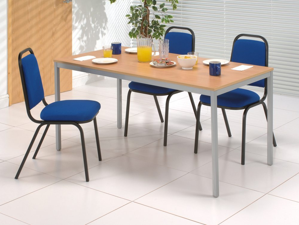 Trexus Banqueting Chair Upholstered Stackable in an Office