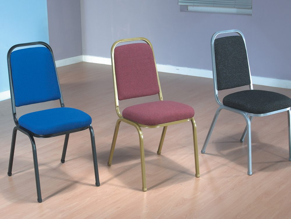 Trexus Banqueting Chair Upholstered Stackable in 3 Different Colours