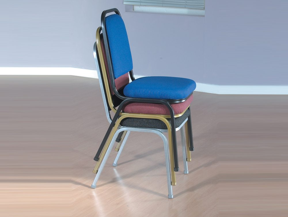 Trexus Banqueting Chair Upholstered Stackable Stacked