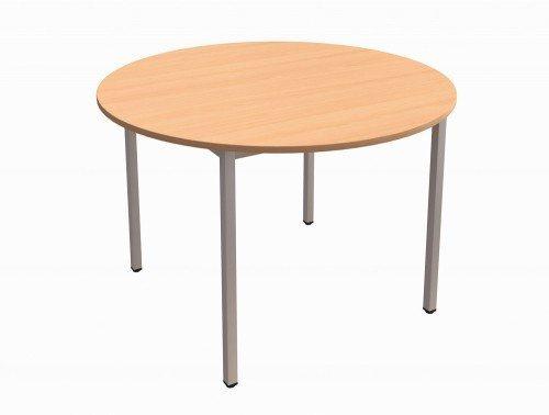 Trexus Circular Table with Silver Legs in Beech