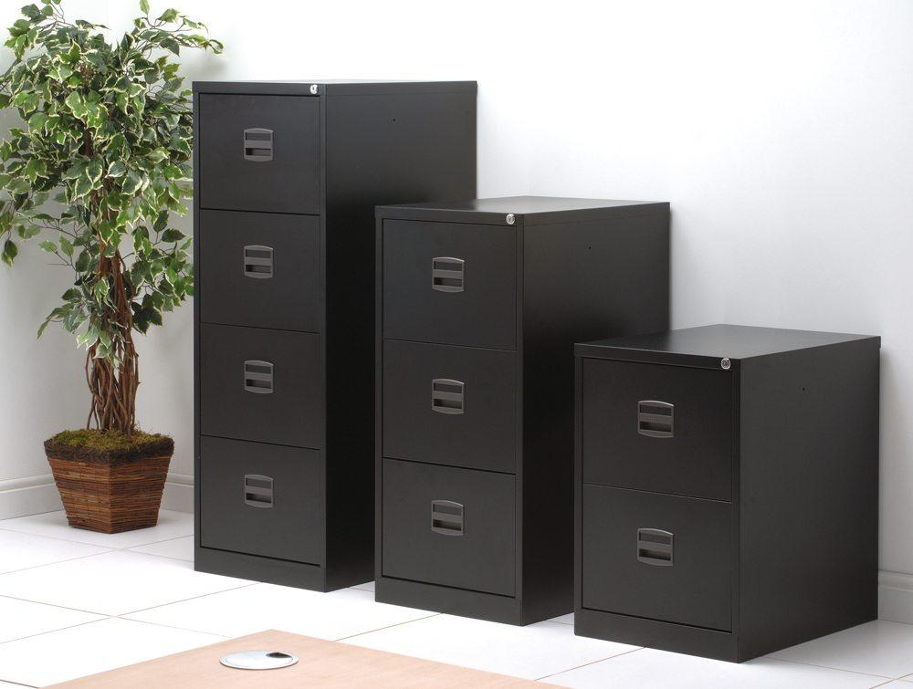 Trexus Filing Cabinet Steel Lockable 4-Drawer
