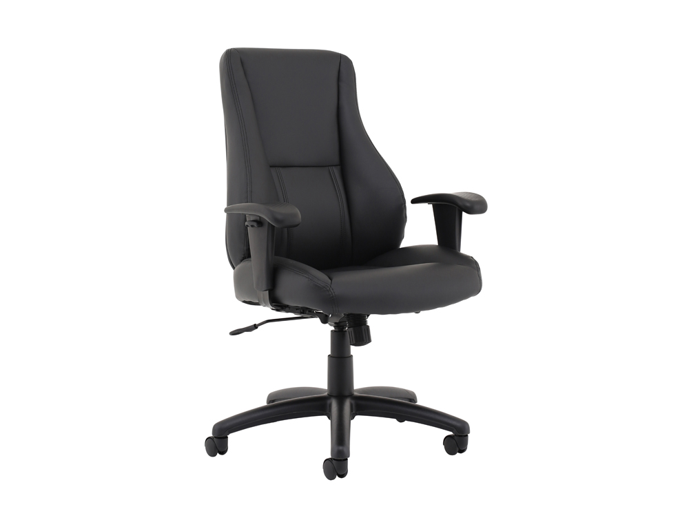 Trexus-Hampshire-Manager-Armchair-Adjustable-Arms-in-Black-Leather