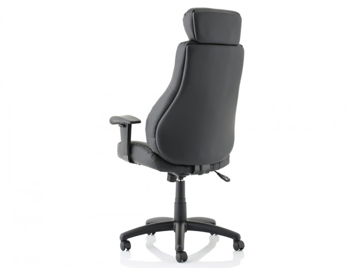 Trexus-Hampshire-Manager-Armchair-Headrest-in-Black-Leather-Back-Side