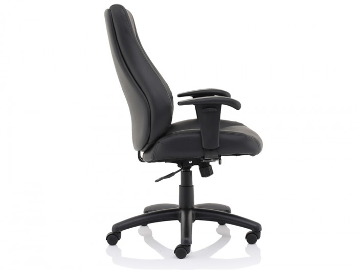 Trexus-Hampshire-Manager-Armchair-in-Black-Leather-Side