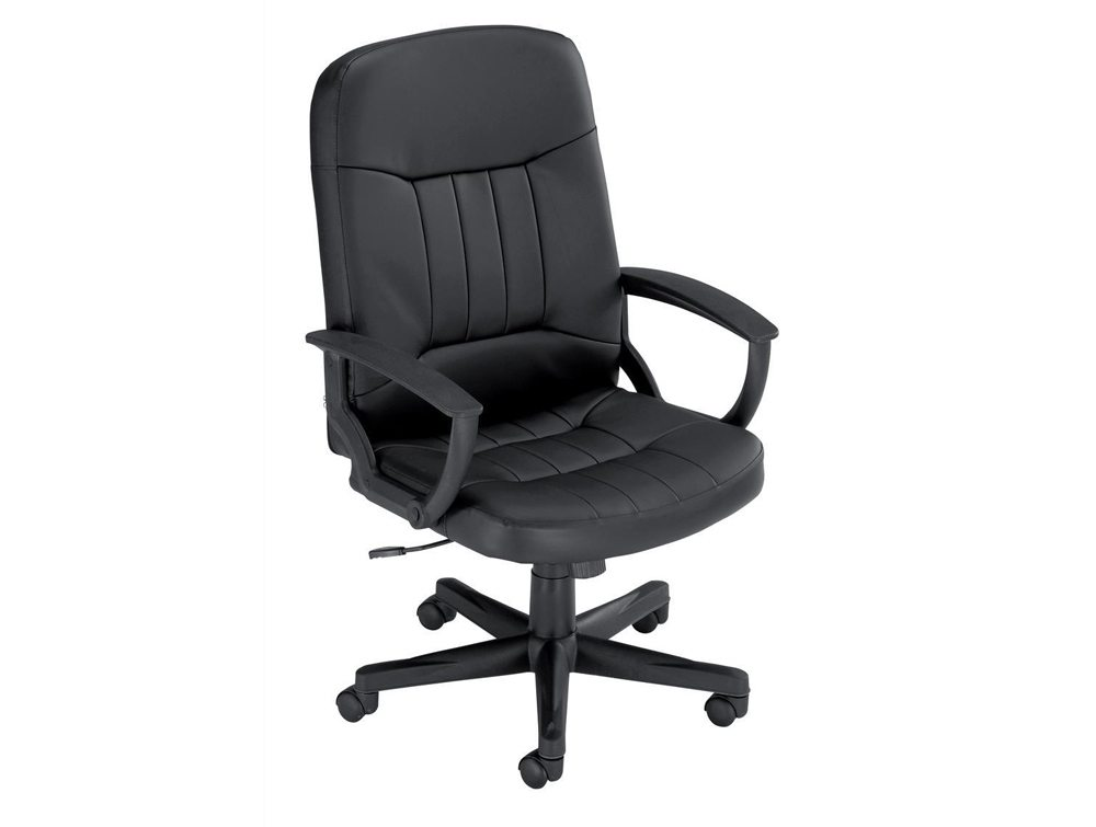 Trexus High Back Manager Armchair in Black Leather