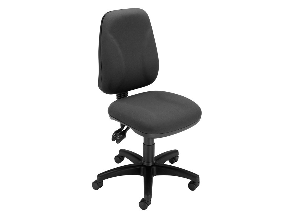 Trexus Intro High Back Permanent Contact Chair in Charcoal