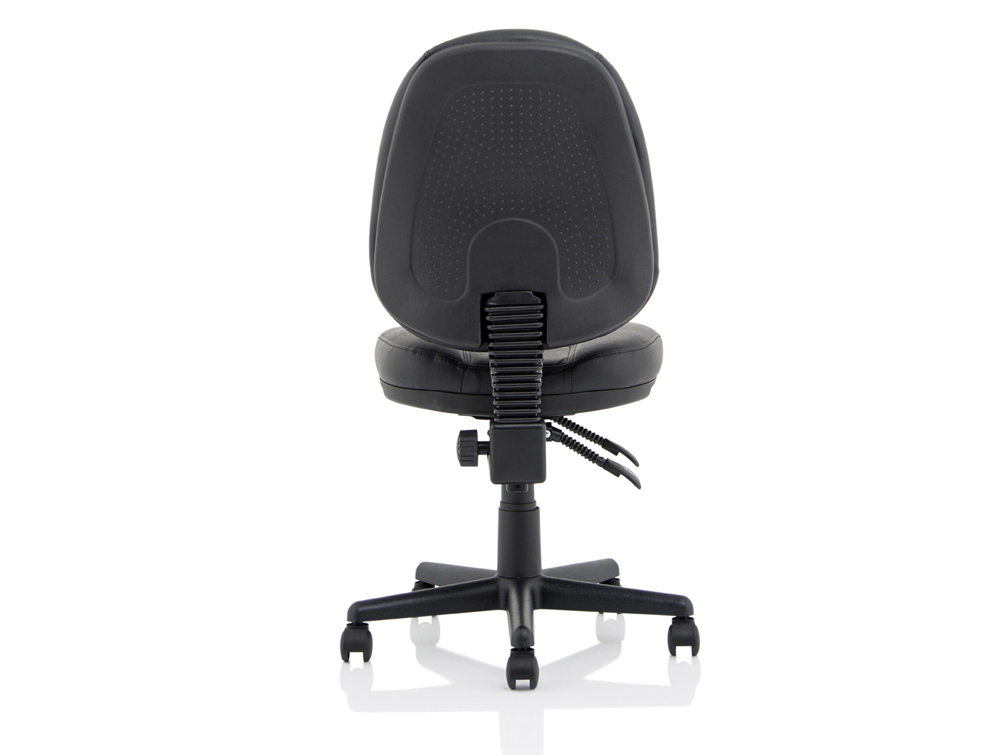 Trexus-Intro-Operator-Black-Leather-Chair-Back-Side