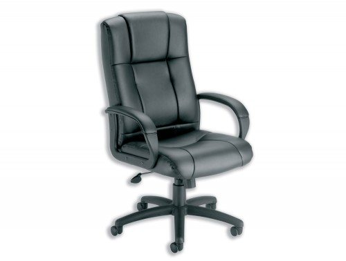 Trexus Intro Sussex Manager Chair in Black Leather