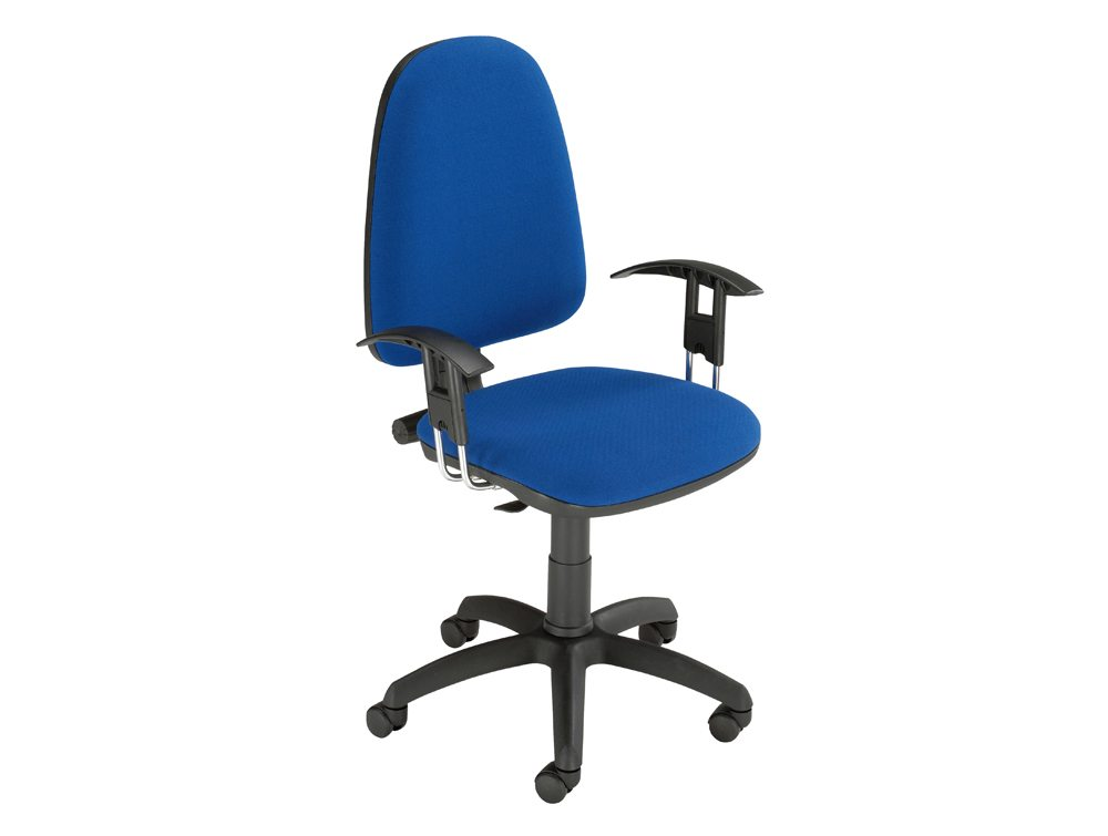 Trexus Office Operator Chair Permanent Contact High Back with Adjustable Armrest
