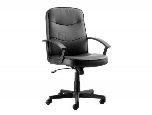 Trexus Rutland Managers Armchair Basic in Black Leather