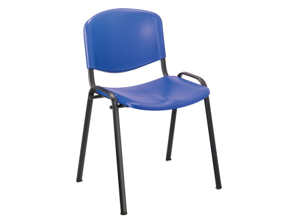 Trexus Blue Stacking Chair Polypropene