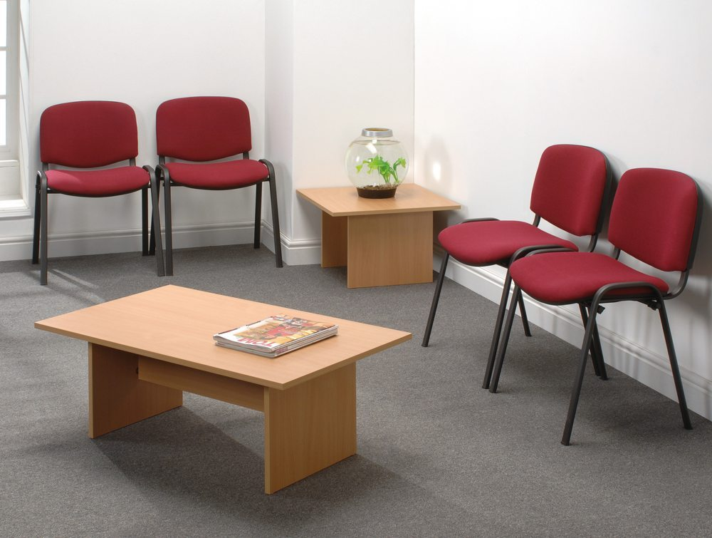 Trexus Stacking Chair Upholstered with Shaped Seat in Burgundy office view