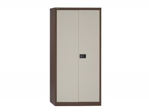 Trexus Storage Cupboard Steel 2 Door 1806mm high in Brown and Cream