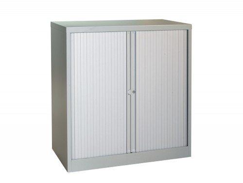 Bisley Tambour Cupboard Steel Side-opening 1015mm high in Grey