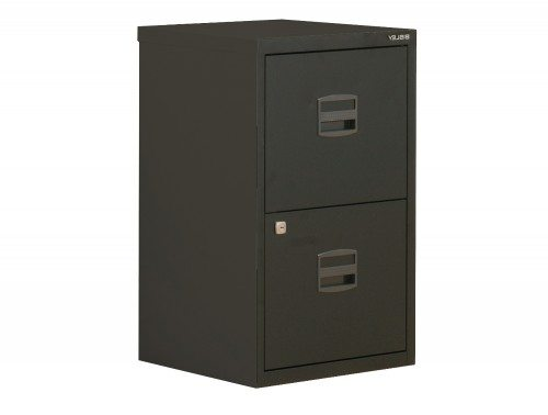 Trexus by Bisley SoHo Filing Cabinet Steel Lockable 2-Drawer A4