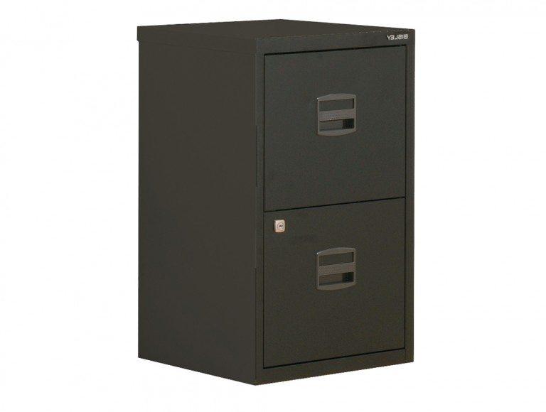 Trexus by Bisley SoHo Filing Cabinet Steel Lockable 2-Drawer A4