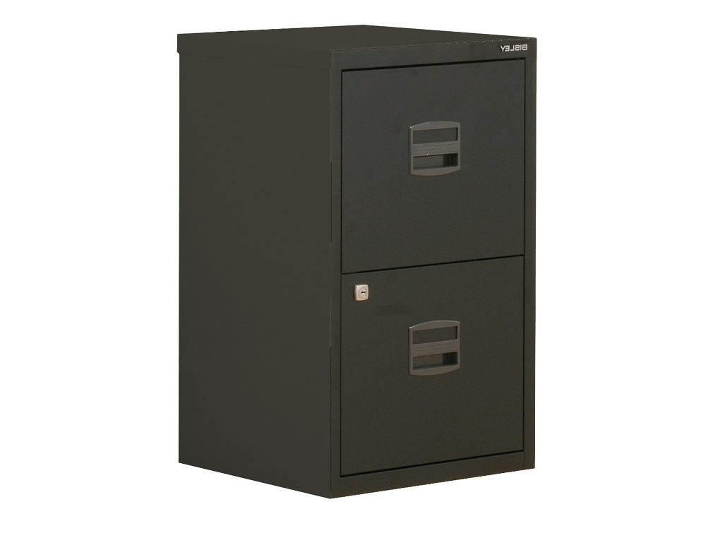 2f095b98f24 Trexus by Bisley SoHo Filing Cabinet Steel Lockable 2-Drawer A4