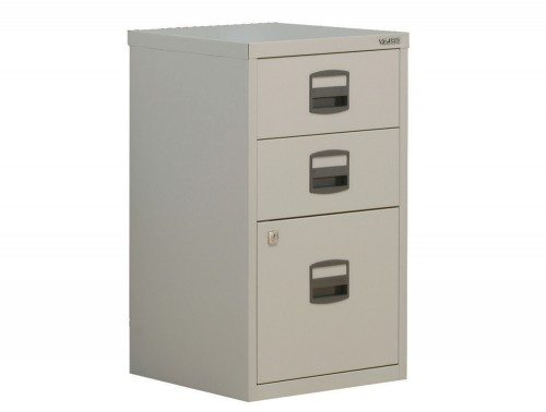 Trexus by Bisley SoHo Filing Cabinet Steel Lockable 3-Drawer A4
