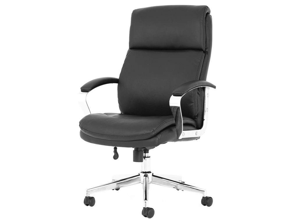 Tunis-Executive-Manager-Chair-in-Black-Faux-Leather-with-Chrome-Arms