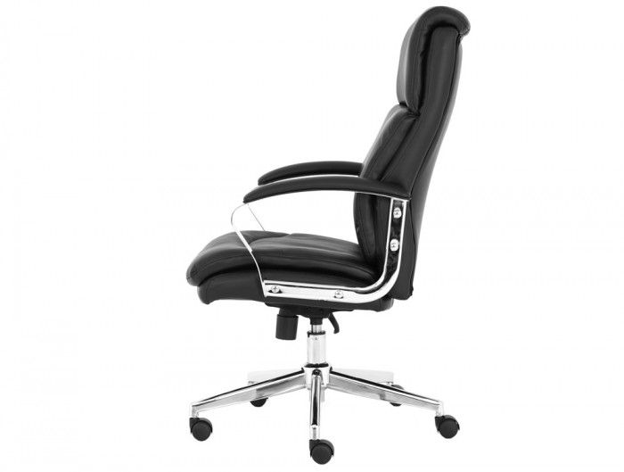 Tunis-Executive-Office-Chair-in-Black-Faux-Leather-with-Armrests