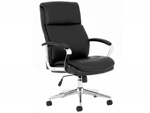 Tunis-Executive-Office-Chair-in-Black-Faux-Leather-with-Padded-Arms