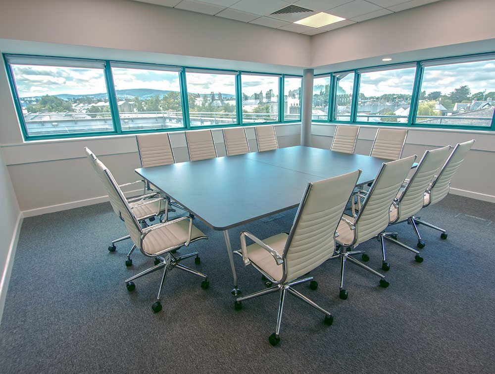 twelve chairs in a boardroom
