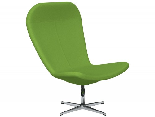 Twist 4-Star Base Swivel Armchair E051 Green